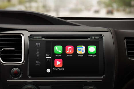 Integrated Phone Multimedia Dashboards - Apple Carplay Lets Users Use Apple Items Without a Phone