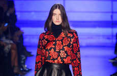 Color-Contrasting Floral Collections - The Emanuel Ungaro Fall 2014 Looks Play with Color