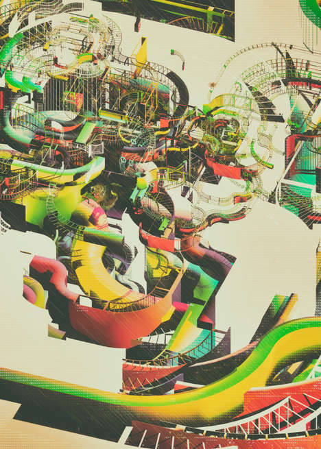Hypnotic Roller Coaster Illustrations - Atelier Olschinsky