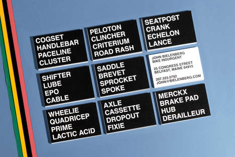 Mashed-Up Wordy Business Cards - This New Collection of Business Cars are Designed for Cyclists