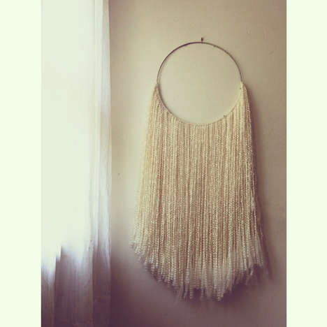 Whimsical Woolen Wall Art - The Wool Hoop Wall Art from SonadoraInLove is Warm and Whimsical
