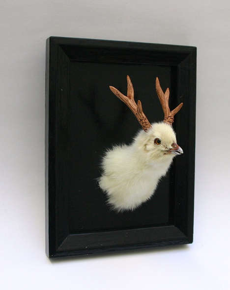 Hybrid Animal Taxidermy Mounts - The Hybrid Deer Chicken Wall Mounted Taxidermy is Hilarious