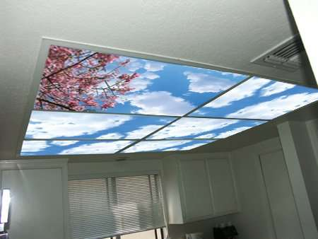 Sky-imitating Ceiling Panels - These Bright Ceiling Panel Lights Imitate a Lively Sunny Day