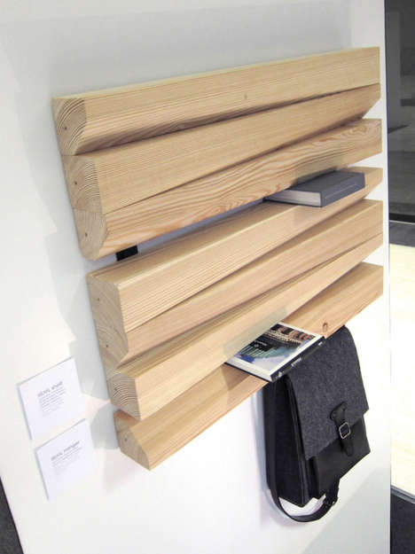 Abstract Art Shelves - Abstract-Inspired Wood Shelving Looks Good and Functions Well