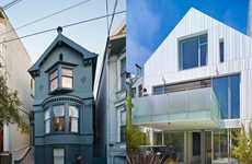 Era-Clashing Houses - This Double-Sided House has a Victorian Front & Contemporary Back