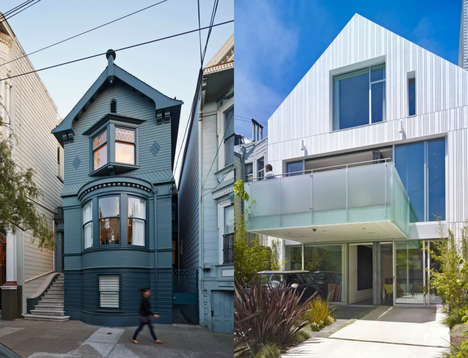 Two-Faced Townhouses - This House in San Francisco has Two Faces