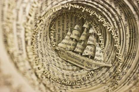 50 Astonishing Book Art Projects - From 3D Book Art to Merging Book Sculptures