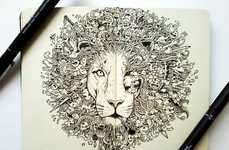 Majestic Animal Doodle Illustrations