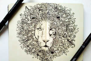 Kerby Rosanes's Pen Doodle Illustrations are Majestic