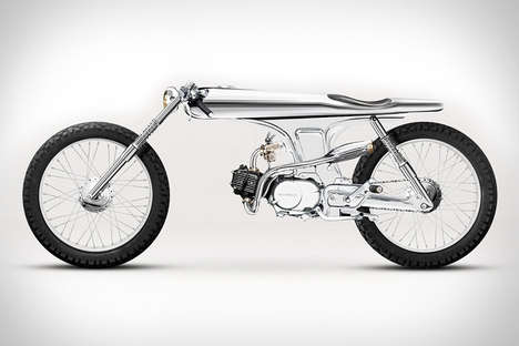 Insanely Slim Motorbikes - The Bandit9 Eve Concept Motorcycle Could be Mistaken for a Bicycle