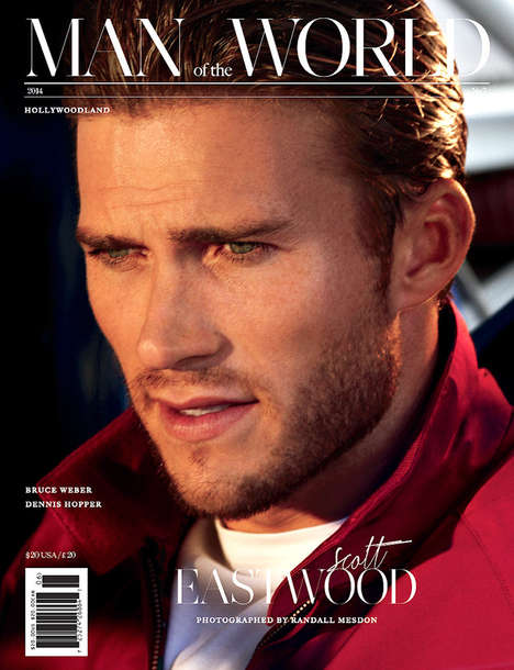 Smouldering Celeb Offspring Editorials - The Man of the World Issue 7 is Covered by Scott Eastwood