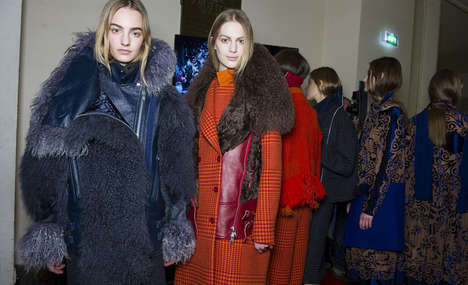 Hybrid Houndstooth Collections - The Sacai Fall 2014 Collection is a Hybrid of Material and Style