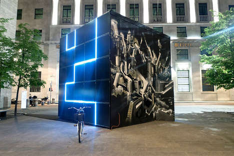 Solar-Powered Light Cubes - This Light Cube Can Work as a Solar Battery for Cities and Towns