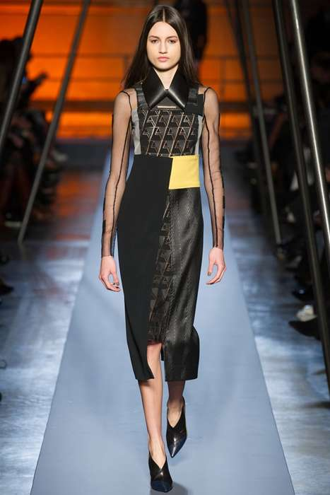 Cut-Copy Collage Collections - The Roland Mouret Fall 2014 Collection Cuts and Pastes Materials