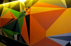 Neon Geometric Wall Art - MWM Graphics Makes Walking Down the Hallway the Highlight of Your Day