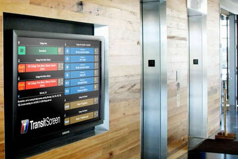 Tactile Urban Travel Services - Transitscreen Lets Users to Customize Their Urban Travel Experience