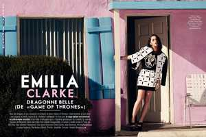 The Glamour France April 2014 Issue is Covered by Emilia Clarke