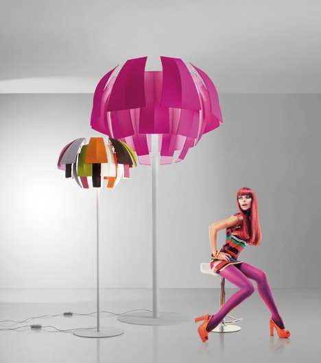 Deceptively Floating Lampshades - The Plummage Lamp by Axo Light is Contemporarily Sculptural