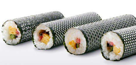 Laser-Cut Sushi - Design Nori Has Intricately Patterned Seaweed for Aesthetically Enhanced Edibles