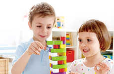 Educational-Promoting Block Games - The Stacking Veggie Game Puts a Brainy and Healthy Spin on Jenga