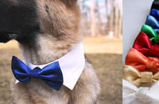 Dapper Dog Bow Ties - The Wedding Dog Bow Tie is an Adorable Way for Pets to Look Classy