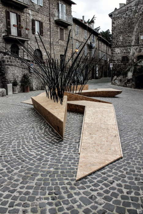 Sprouting Public Benches - TreeIt by nITro Appears to Capture the Starry Sky at Night