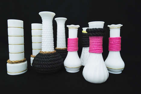 Revamped Vintage Vessels - The DIY Modern Milk Glass Vases is a Fun and Feminine Home Project