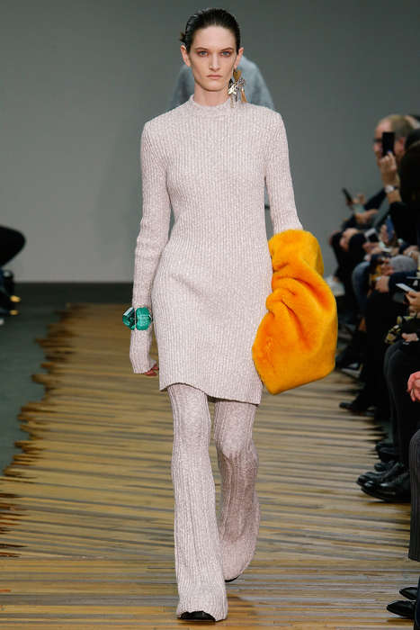 Sandwich Sandal Sartorials - The Céline Fall 2014 Collection has Unparalleled Flair