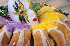 New Orleans Inspired Cakes - Mardi Gras King Cake Contains a Symbolic Surprise Within the Dessert