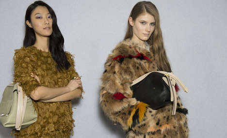Marabou Confection Collections - The Chloé Fall 2014 Collection Features Marabou and Fox Confec
