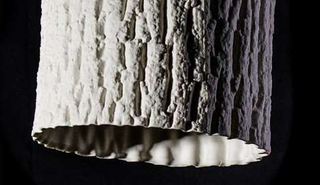 Log-Textured Lamps - Forest Lights are Natural-Looking Sheaths for Artificial Sources of Light