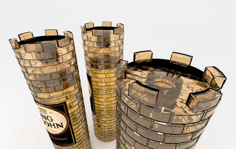 Fortress Bottle Branding - Long John Whisky Packaging Takes the Look of a Castle Tower