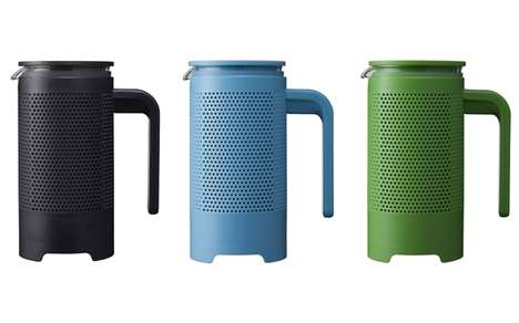 Perforated Java Percolators - Core Coffee Press Comprises a Plastic Sheath for Practical Purposes