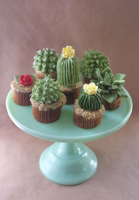 Household Botanical Pastries - These Plant Cupcakes Make Delicious Remakes of Household Plants