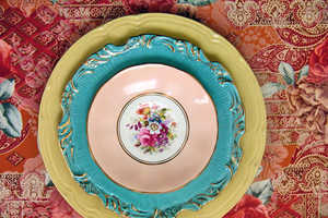 Lulaland's Vintage Fabrics and China are Stunning