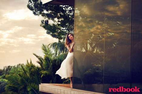 Foliage-Filled Celeb Editorials - The Redbook Magazine April 2014 Photoshoot Stars Jessica Alba
