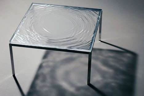 Ripple Effect Furnishings - The Wave Table Has the Authentic Look of a Disturbed Liquid Surface
