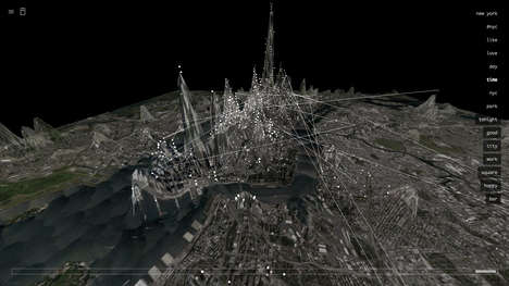 Manipulated Social Media Topography - The Invisible Cities App Remaps Metropolises with Online Data