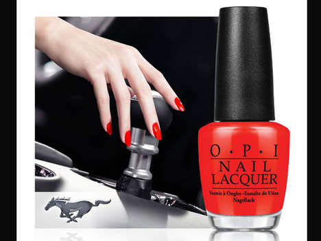 Motorized Manicure Collaborations - OPI is Teaming Up with Ford to Drive a Line of Nail Polish