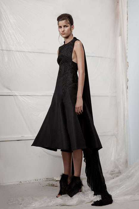 Somber Victorian Lookbooks - The Ellery Fall 2014 Lookbook is a Combination of Amish And Gothic