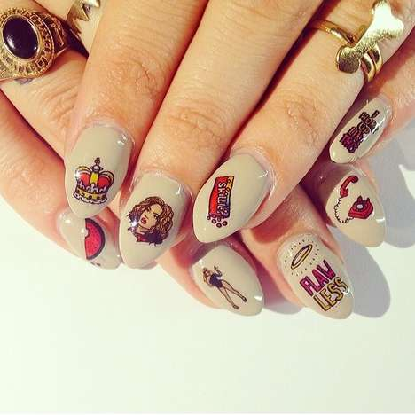 Playful Starlet Nail Art - Confidently Embrace Your Inner Diva with These Beyonce Nail Decals