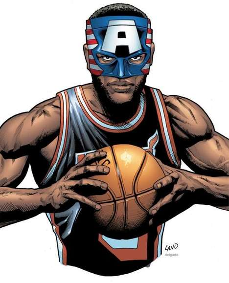 Basketball Star Superhero Drawings - The LeBron James Face Mask Buzz Has Reached a Fever Pitch