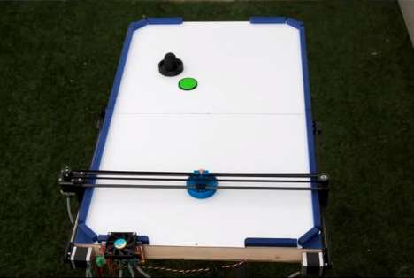 Air Hockey-Playing Robots - This Bot Uses 3D Printer Parts and PS3 Motion Detection Technology