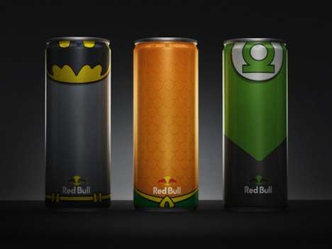 Superhero-Inspired Drink Packaging - The Justice League Inspired These Super Powered Red Bull Cans