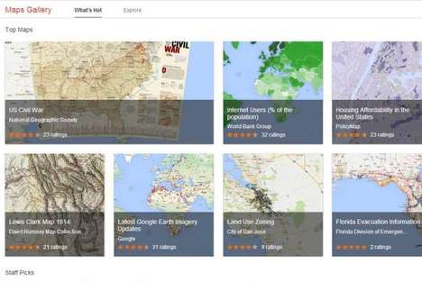 Interactive Historical E-Maps - The Google Maps Gallery Will Show Historical Information on New Maps