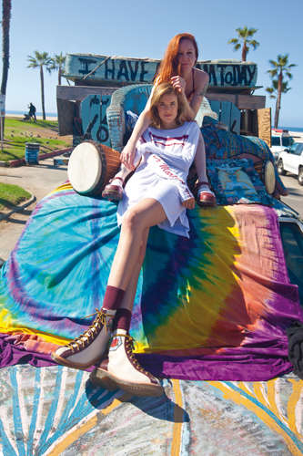 Flip-Side Summer Fashions - Agyness Deyn and Dr. Martens Team Up For a Fourth Collection