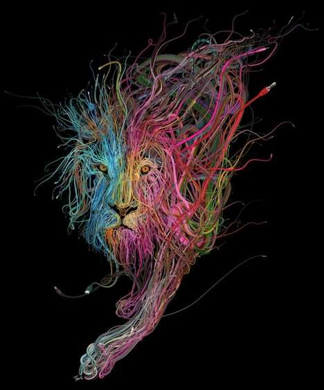 Electronic Wire Illustrations - Artist Charis Tsevis Address Connection Between Technology & Humans