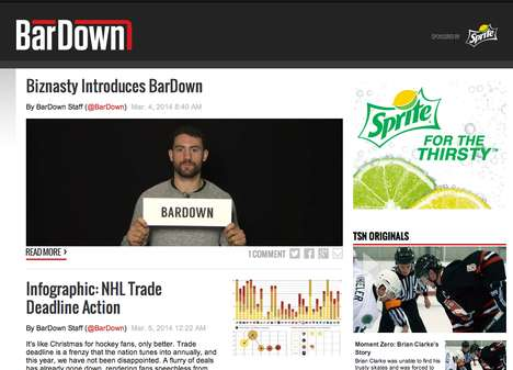 Pop Culture Sports Websites - Sports Meets Pop Culture with TSN