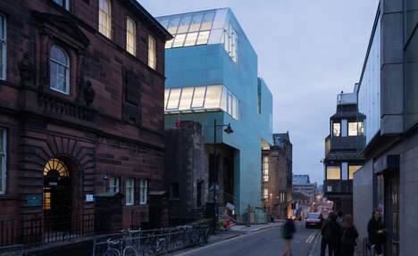 Etched Glass Panel Structures - The Reid Building is a New Addition to the Glasgow School of Art