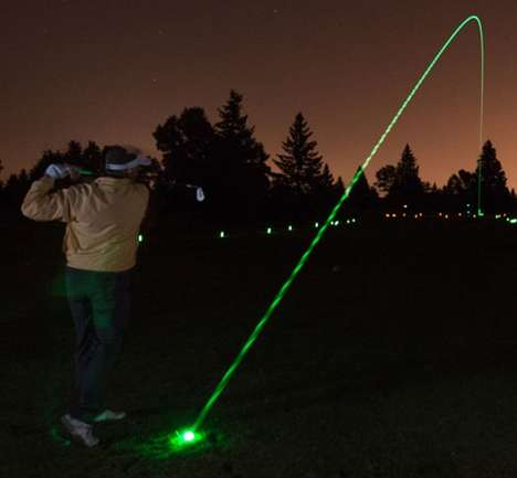 Glow-in-the-Dark Putting Equipment - The LED Golf Ball by Night Sports Boasts a Vibrant Neon Glow